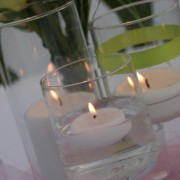 Candle Arrangement on Reception Tables