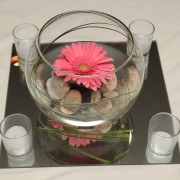 Floating Gerber Daisy Reception Table