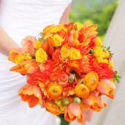 Rich Colored Bridal Bouquet