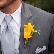 Groom's Freesia Boutonniere