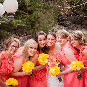 Canary Yellow Bridemaid Bouquets