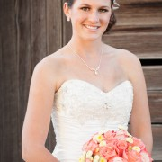 Coral Rose Bouquet for Bridal Session