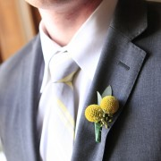 Billy Ball and Seeded Eucalyptus Boutonniere